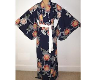 3b33bceba2 Fabulous Vintage Japanese Authentic Yukata Cotton Kimono Robe