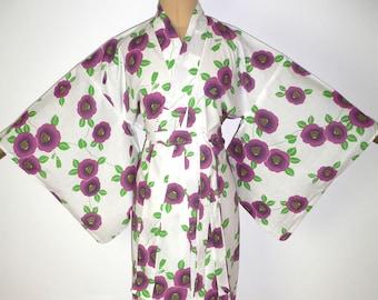 ae4fb97367 SALE New Japanese Authentic Yukata Cotton Kimono Robe Dressing Gown  Shortened to Create a Matching Belt