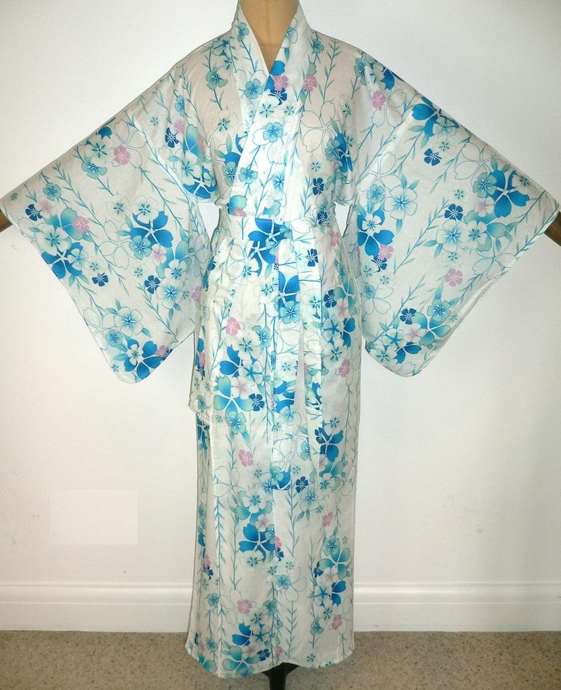 18c8b2b6c Japanese Authentic Yukata Cotton Kimono Robe Dressing Gown | Etsy