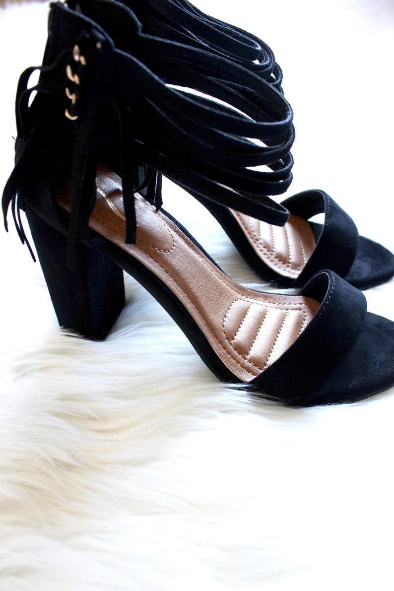 On the Fringe Heels in Black
