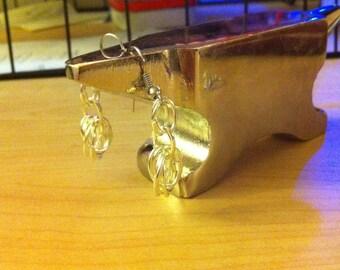 Oval Mobius Flower Earrings