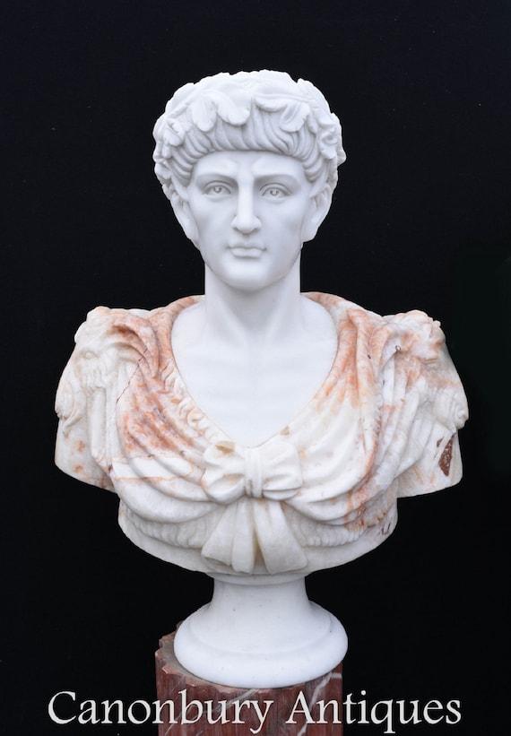 ROMAN EMPEROR CAESAR SCULPTURE STATUE Roman Italian Bust Home Office Art Gift
