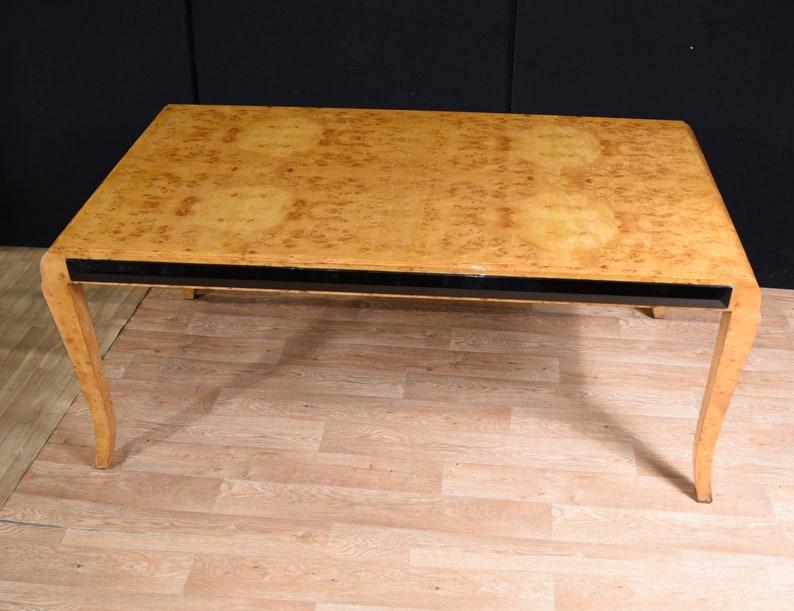 Large Art Deco Walnut Desk Writing Table Bureau Plat