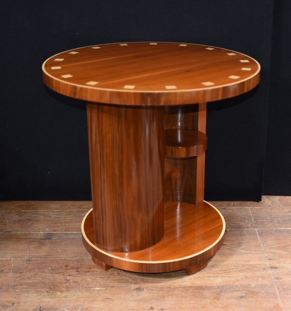 Art Deco Side Table Vintage Rosewood Inlay Etsy