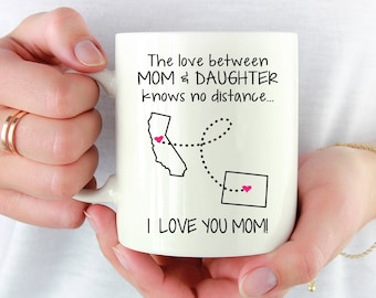 Mom Gift From Daughter Coffee Mug, Long Distance Mother, Christmas Gift for Mom