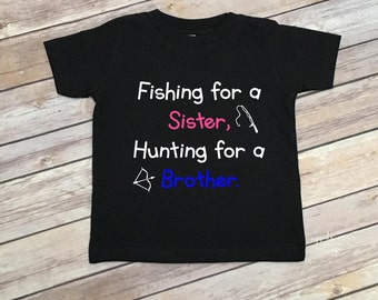 Gender Reveal Shirt - Gender Reveal Party T Shirt - Big Sister - Big Brother - Announcement Shirt