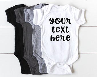 Custom Onesie - Your Text Here Shirt - Baby Onesies Custom - Coming Home Outfit -  Create Your Own - Baby Shower Gift - Custom Body Suit