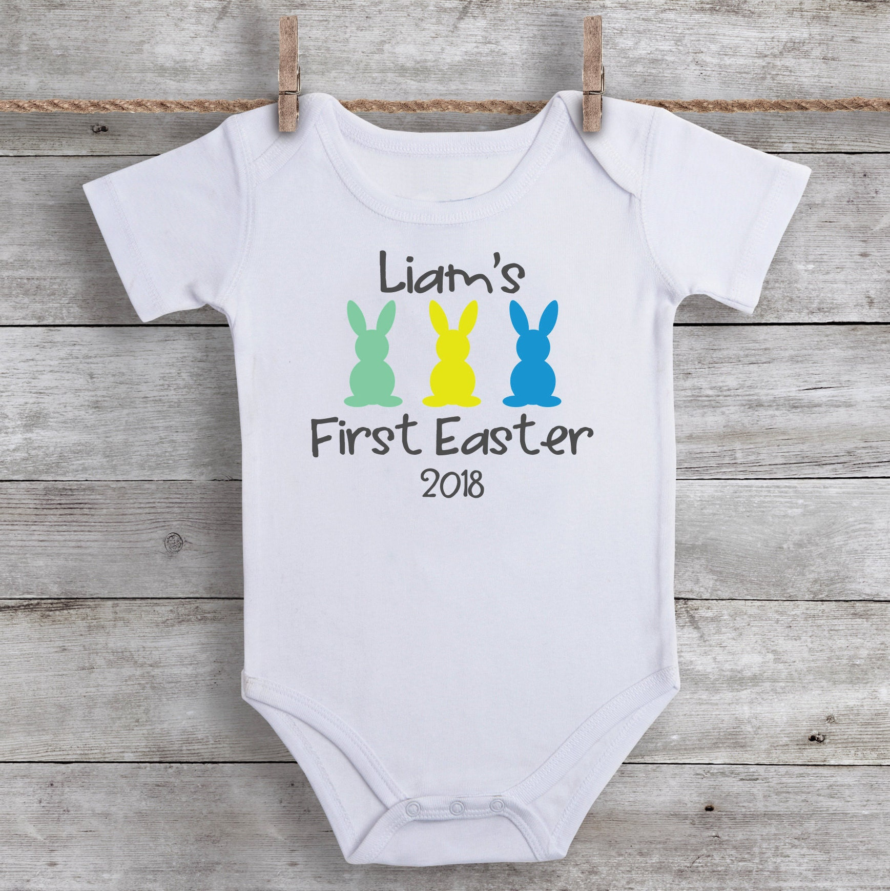 First time hunter  Easter bodysuits baby rompers
