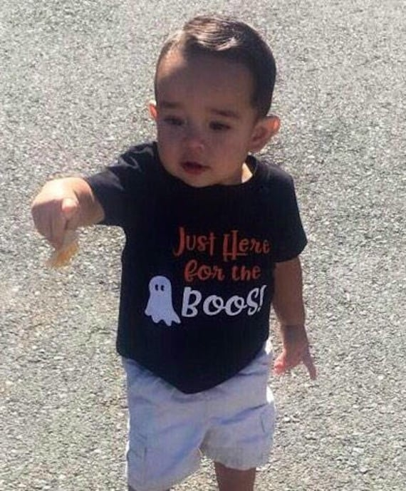 Here for the Boos Halloween Shirt Toddler Shirt Funny Halloween Girl Halloween Tee Boy Halloween Shirt