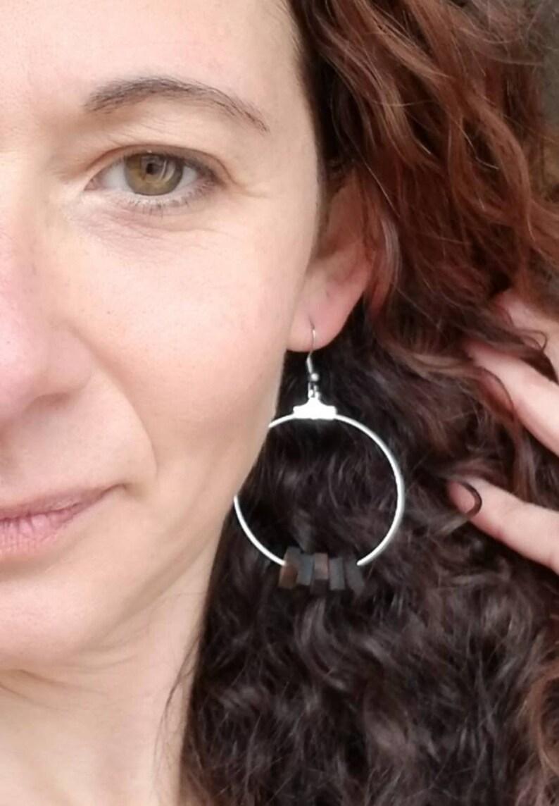 Wood Earring for Women Modern Wood Earrings Wood Earring Bohemian Earrings Dangle Wood Earring Lightweight Wood Earring