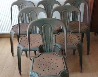 Fibrocit industrial chairs x6