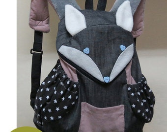 Pdf Fox Backpack Instant Download Sewing Pattern Etsy