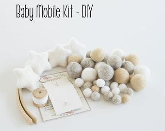 Nursery Decor DIY Baby Mobile    DIY Baby Mobile Kit   DIY crib mobile   diy Baby Mobile   Crib Mobile Kit   Mobile Kit   Baby Shower Gift