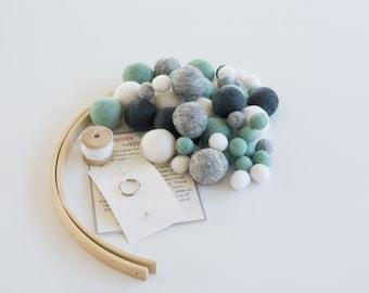 Crib Mobile Kit, Neutral Nursery Mobile, Pregnancy Gift