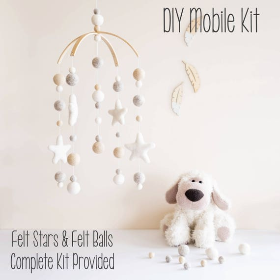 Diy Mobile Baby Mobile Diy Crib Mobile Diy Cot Mobile Mobile Nursery Diy Nursery Mobile Felt Ball Mobile Baby Mobile Diy Nursery