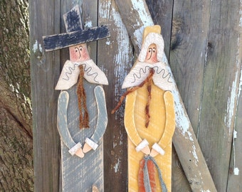 Primitive Pilgrims Country Fall Decor Thanksgiving OFG Team Rustic