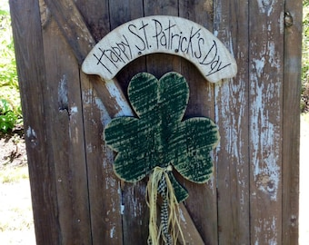 Saint Patrick's day, leprechaun, primitive door greeter, Irish decor, shamrock, Primitive, Primitive Leprechaun, Primitive decor, Irish