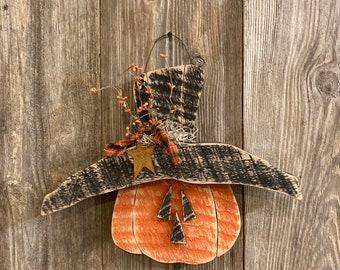 NEW 2021, Primitive jack o lantern , fall pumpkin, Primitive pumpkin, farmhouse Decor, primitive decor, Summer decor, Primitive country