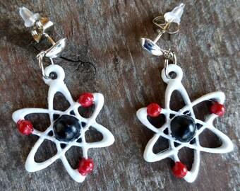 Atomic symbol earrings