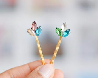 Rhinestone pretty bobby pin hair grips  |    Perfect occassion hair accessories for women | gift for her