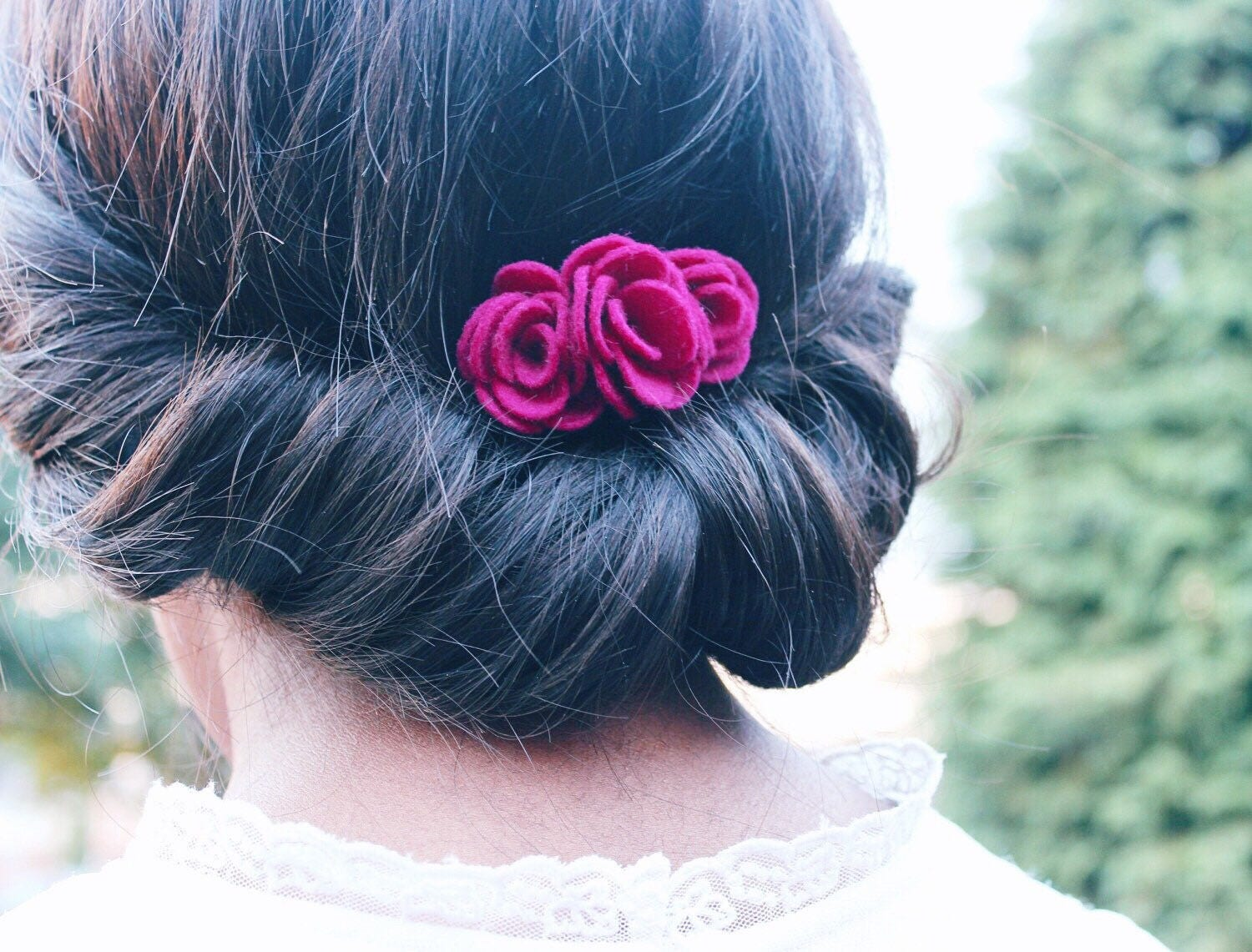 Felt Flower Hair Comb Made With 100 Wool Felt Quirky Hair Flowers