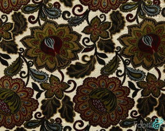 Black and Red Small Circle Print Upholstery Fabric Polyester Very Heavy Weight 56 UPOS OPTIMA Cream Beige