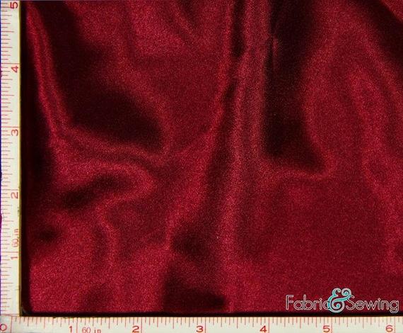 """Borgoña Rojo Tejido de poliéster Dupioni por la yarda 58/"""" de ancho"""