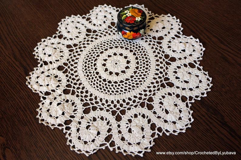 Wholesale Bulk Lot 10 Large Handcrochet vintage lace doilies doilys doiley round