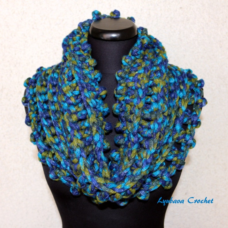 Crochet Cowl Scarf Hand Crocheted Scarf For Women Chunky Etsy