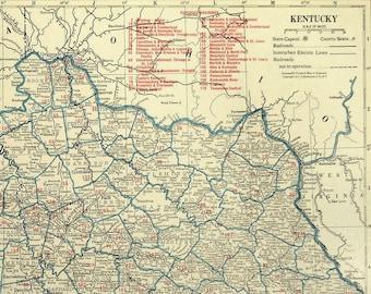 Kentucky Railroad Map LARGE Railroad Map Kentucky Wall Art