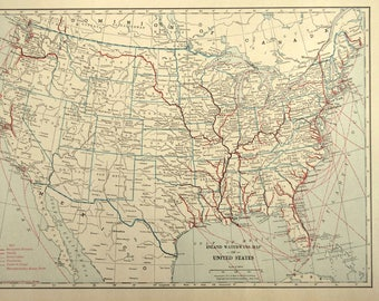United States River Map Inland Waterway Map US Stream