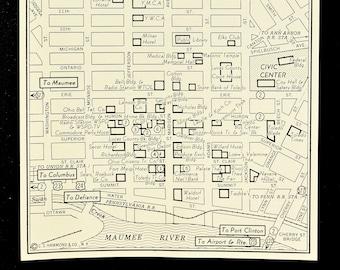 Washington DC Map of Washington D C Street Map Wall Art Decor   Etsy