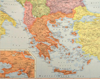 Greece Map Greece Greek Isles Map Islands Colorful