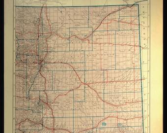 Eastern colorado map   Etsy