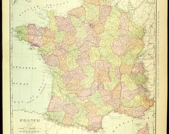 Versailles Map Of France.Versailles Map Etsy