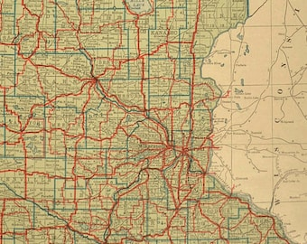 Antique duluth map | Etsy