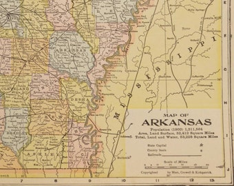 Arkansas Map of Arkansas Topographic Map Wall Art Decor | Etsy