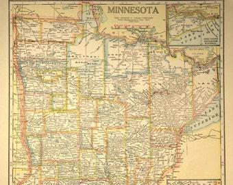Minnesota road map | Etsy