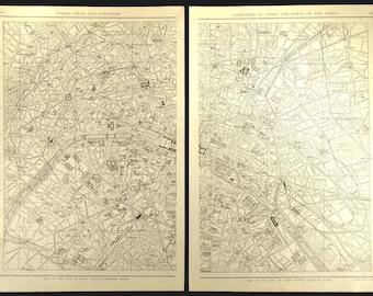 Paris street map | Etsy