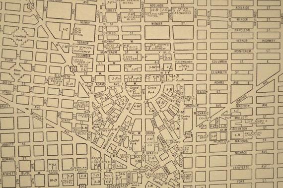 Detroit Map Detroit Street Map Vintage 1940s Original   Etsy
