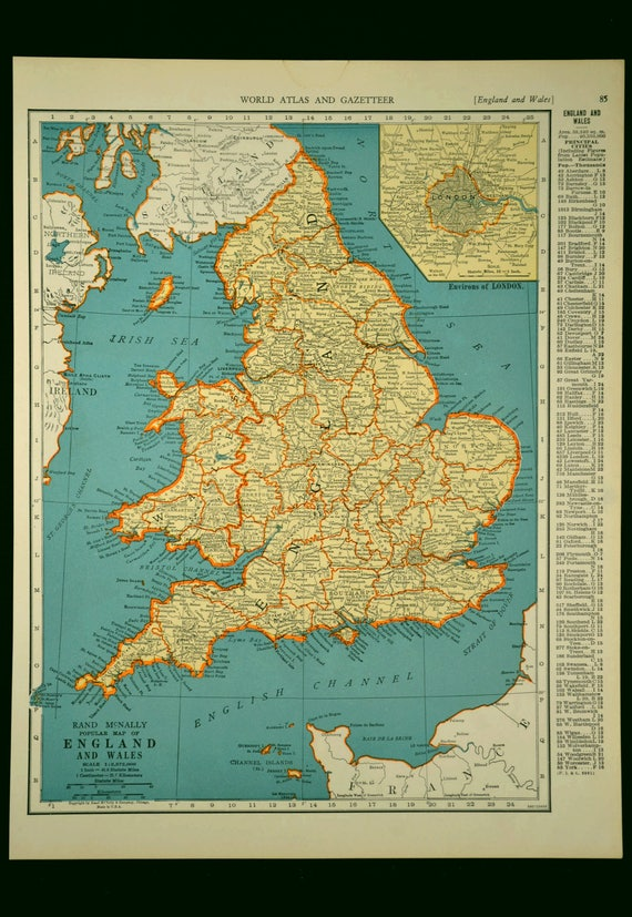 England map england vintage wales united kingdom 1930s gumiabroncs Choice Image