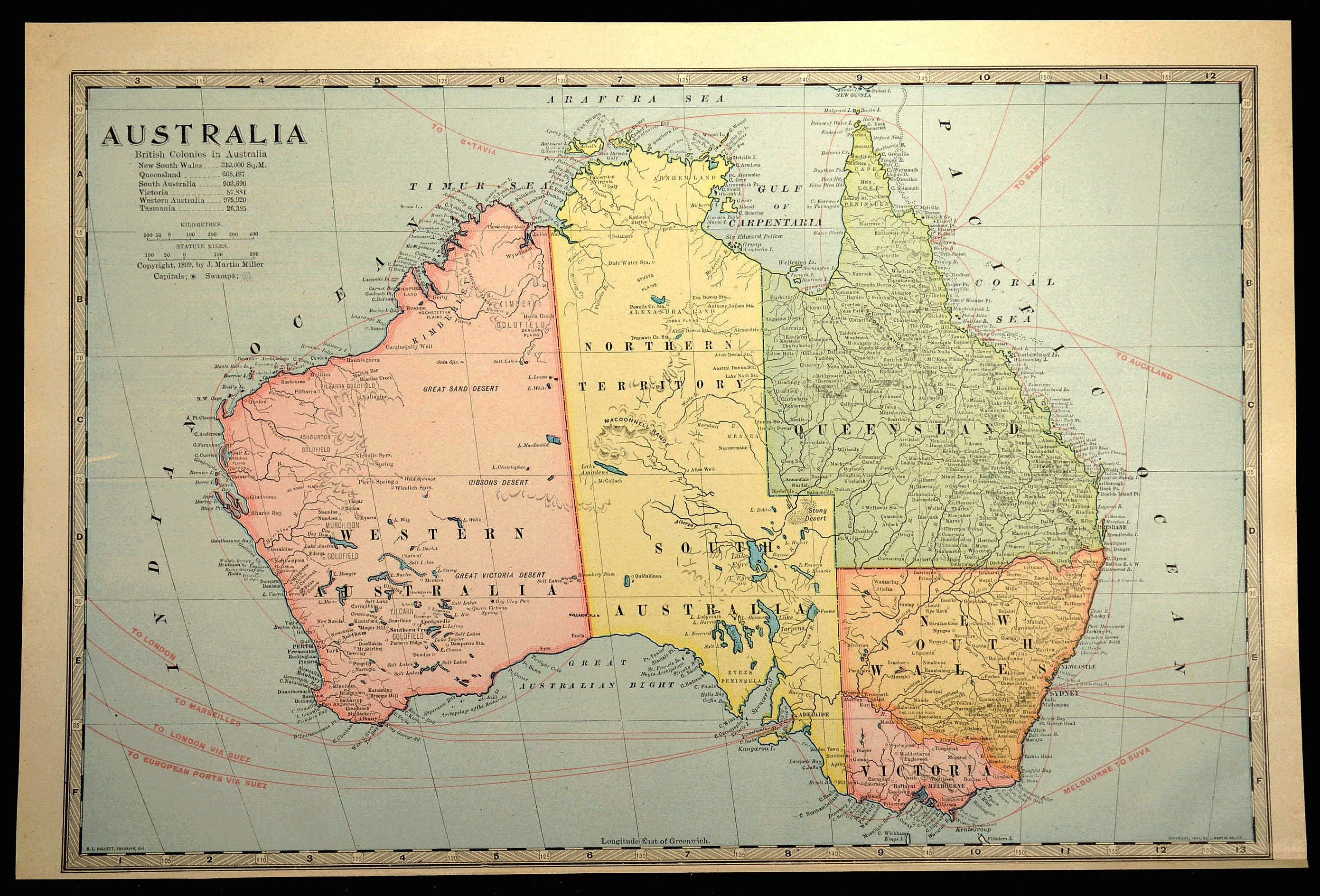 Full Map Of Australia.Australia Map Of Australia Wall Art Decor Antique Original Late 1800s Travel Gift Wedding Gift Idea For Him Print