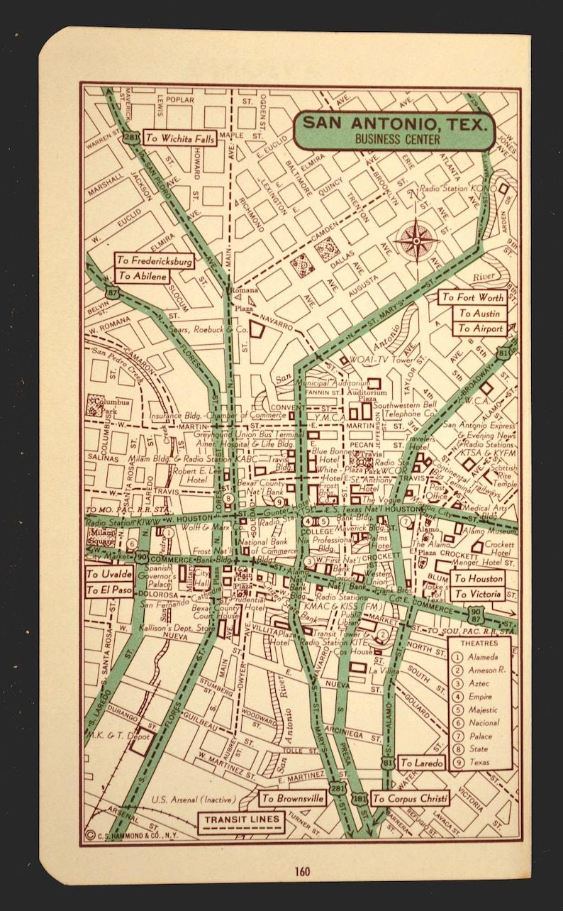 San Antonio Map of San Antonio Street Map Wall Art Decor City Texas Wedding  Gift Idea For Him Print