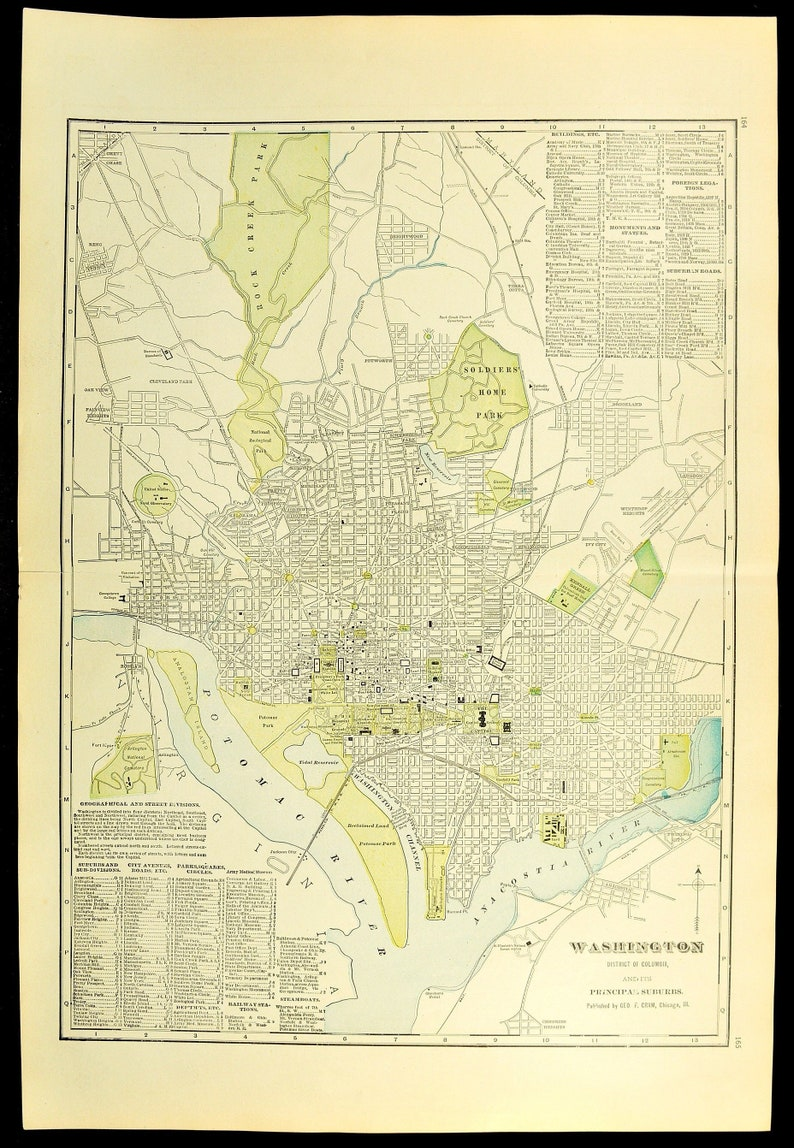 Dc Street Map on
