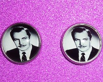 Vincent Price Inspired Earrings / Horror Earrings / Vincent Price / Gothic Earrings / Gothic / Vincent Price Earrings / Gothic Gift / Horror