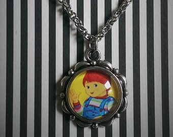 385af3444 Good Guy Doll Mini Cameo Necklace / Horror Necklace / Horror Pendant /  Horror Jewelry / Child's Play / Chucky Necklace / Horror / Good Guy
