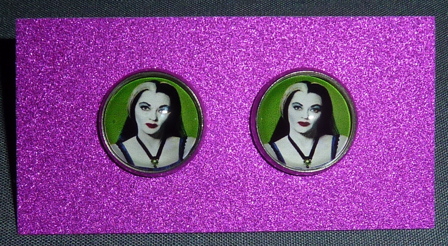 4d894272328 Lily Munster Inspired Earrings   Horror Earrings   The