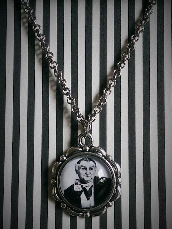 The Munsters Mini Cameo Necklace  Horror Necklace  Munsters Necklace  Lily Munster  Horror Jewelry  Horror  Herman Munster  Goth