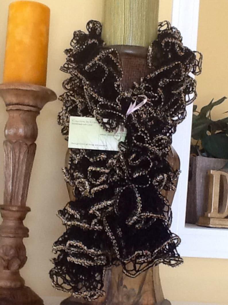 Metallic edged ruffle scarves image 0