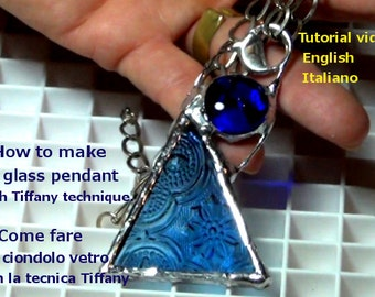 Solder tutorialsoldered jewelry diy jewelry how to make solder glass tutorial diy tutorial how to make a glass pendant with the tiffany technique handmade blue glass pendant english aloadofball Images